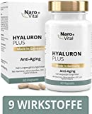 Hyaluronsäure Kapseln - Anti-Aging & junge Haut - Hochdosiert 553 mg - Mit Hyaluronsäure 500-700...