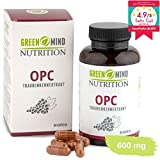 OPC Traubenkernextrakt 600 mg pro Kapsel zertifiziert hochdosiert premium Qualität vegan 3...