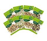 Dehner Bio Keimsprossen, je 2 x 4 Sorten, Fitness-, Gourmet-, Pikant-Aromatisch und Wellness...