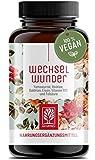 WECHSELWUNDER - 500mg Yamswurzel mit 340mg Rotklee, Baldrian, Eisen, Vitamin B9 und B12 Kapseln...