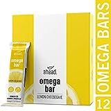 ahead OMEGA BAR 12er Box Energieriegel mit DHA Omega-3 für die Gehirnleistung¹ – Proteinriegel...