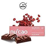 nucao Veganer Bio Superfood Riegel – Wilde Beere – Nährstoffreiche Vegane Schokolade aus...