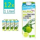 Kulau Bio Kokoswasser Pure 1 Liter 100% pures Kokosnusswasser ohne Zucker und Zusatzstoffe, 12er...