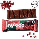 nucao Veganer Bio Superfood Riegel Wilde Beere Nhrstoffreiche Vegane Schokolade aus Hanfsamen &...