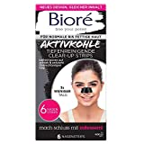 Bioré 6 Tiefenreinigende Aktivkohle Clear-Up-Strips - 2 X 6 Nasenstrips - Dermatologisch Getestet -...