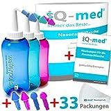 iQ-med Nasendusche 500ml + 33x Salz + Rezeptbuch + 4 Aufstze (blau)