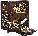 Happy Schoko Glückskeks - Premium vegane Schokoladen Glückskekse - inspirierende Botschaften, 2er...