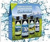 Saunaaufguss-Set mit 100% BIO-Sauna-Öle 4x100ml - Allgäuer Erfrischung Allgäuer Naturluft...